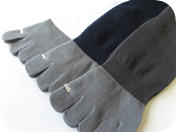 toe socks with bamboo charcoal
