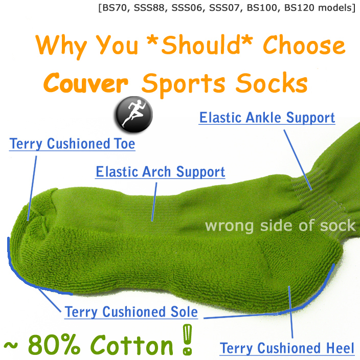 why you should choose Couver striped sports knee socks