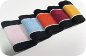 2 colored Sport sweat Wrist bands colors