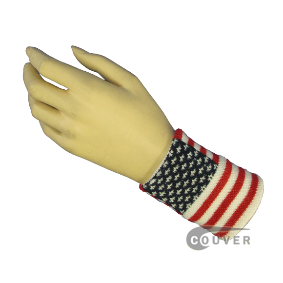 Couver Red White & Blue American Flag Costume Wristband Wholesale WBN103-USA