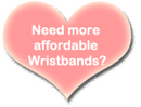 cheap affordable pink wristbands