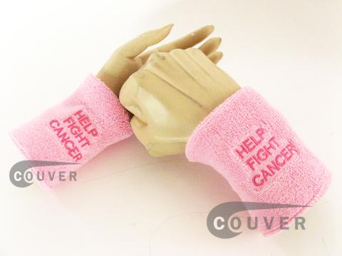 Awareness logo pink sweat wristband COUVER