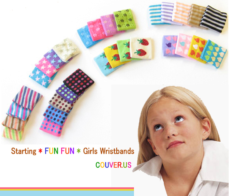 Cute Girls wristbands Assorted colors and styles