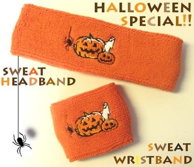 Halloween head sweatband, and youth kids wrist sweatbands
