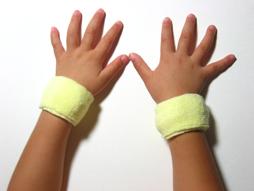 lemonade yellow baby kid's cotton terry-cloth sweatband