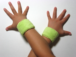 light lime green baby kid's cotton terry-cloth sweatband