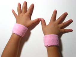 light pink baby kid's cotton terry-cloth sweatband