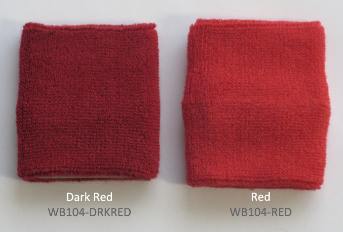 Compare red and dark red Sweat Wristbands