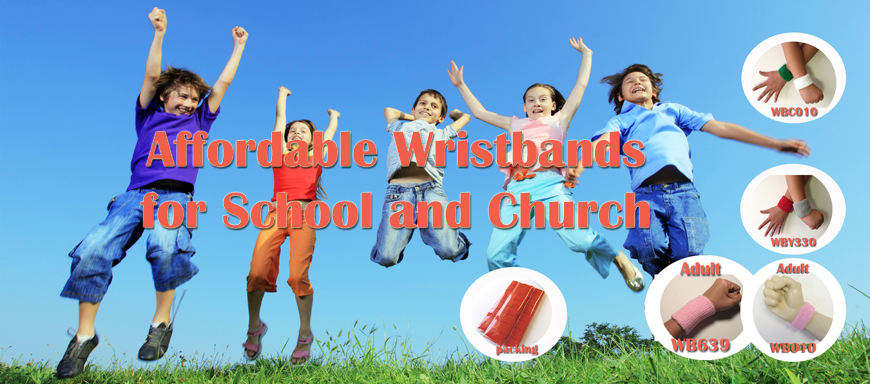 affordable wristbands for school and church activities