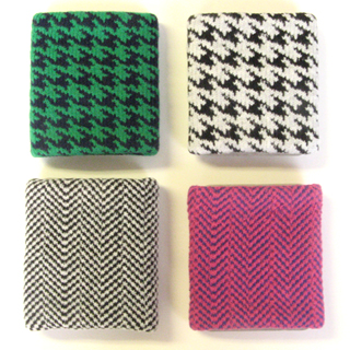 houndstooth check urban style gray black green wristband picture