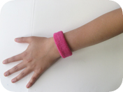 1 inch thin wristband on hand