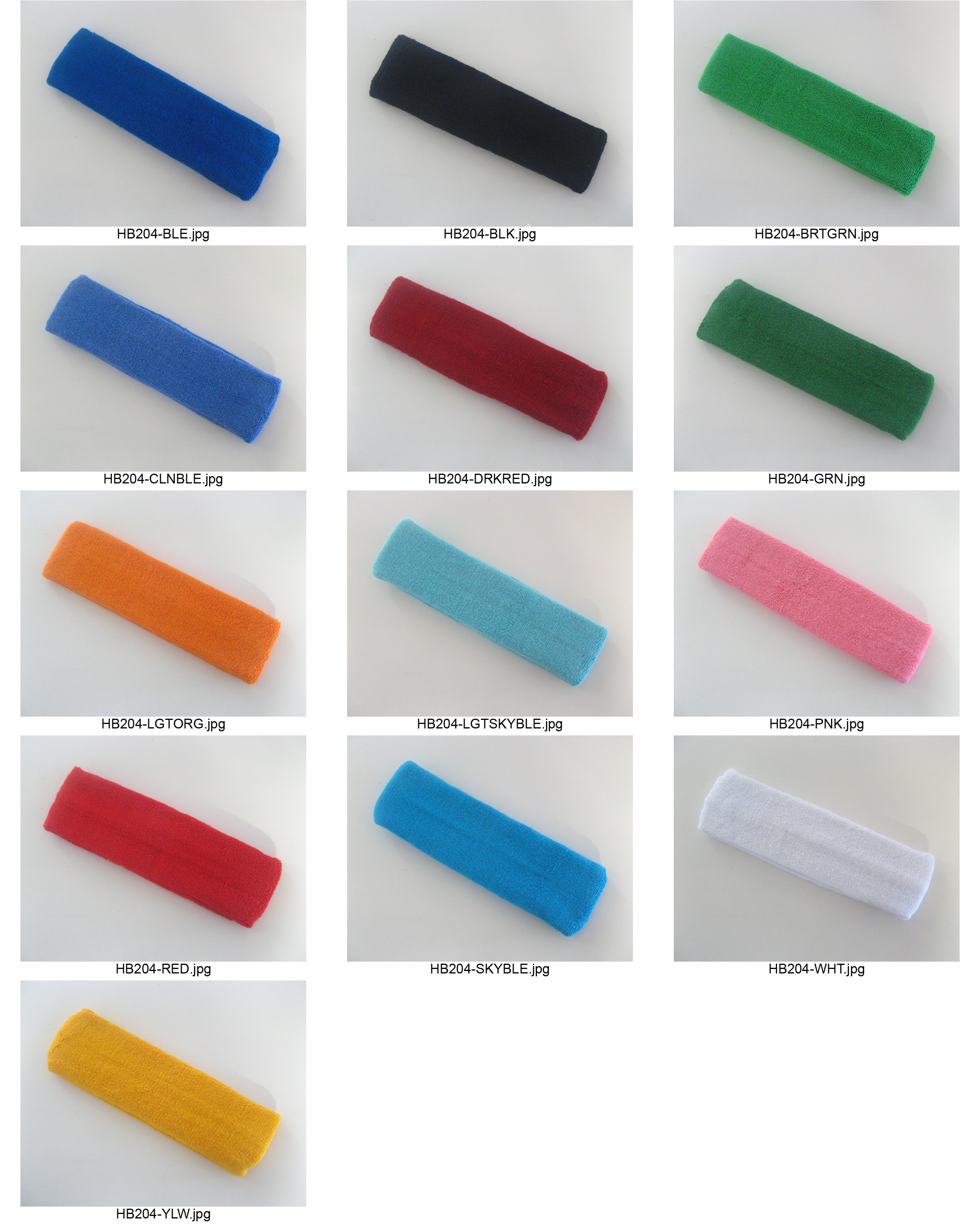 Large plain color headband pro style all catalog