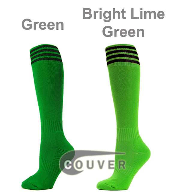 compare Green and Bright Lime Green